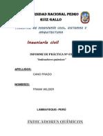 Indicadores quimicos Informe  3