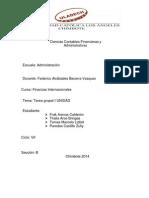 Tarea Grupal I UNIDAD Finanzas Internacionales