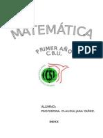 Libro Matematica de 1º Año (Bloque Nº1)
