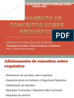 Alinhamento de Conceitos Sobre Requisitos