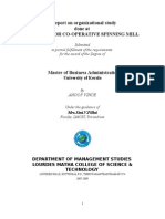 A report on organizational study done at  CHATHANNOR CO-OPERATIVE SPINNING MILL