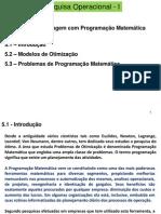 Pesquisa Operacional -  Programação Matemática
