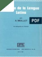 A. Meillet, Historia de la lengua latina.pdf