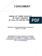 Vehicle Hire Tender -Oct 09