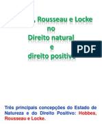 Hobbes Rousseau e Locke No Direito Natural e No Direito Positivo