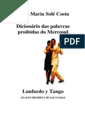Diccionario Lunfardo Língua Espanhola Tango
