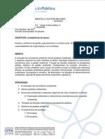 Programa Da Disciplina - Gestão Ambiental e Sustentabilidade