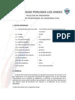 Silabo de Formulacion y Evaluacion de Proyectos 2013-II