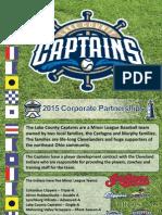 Captains 2015 Corporate Partnerships
