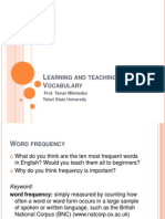 Learning and Teaching Vocabulary