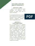 Contaminación del aire en Venezuela.docx