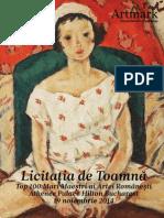 Catalogul Licitatiei de Toamna Top 100 Mari Maestri Ai Artei Rom