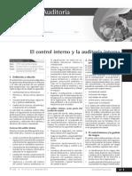 El Control Interno y La Auditoria Interna