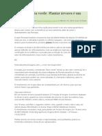 PLANTAÇÃO de ARVORES (Aposentadoria Verde)