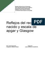 República BolivarianaReflejos del recién nacido y escala de apgar y Glasgow de Venezuela