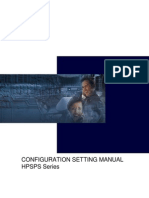 HPSPS Series Configuration Setting Manual