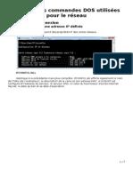 Résumé Des Commandes DOS Utilisées Pour Le Réseau