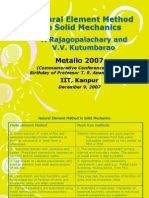 Natural Element Method in Solid Mechanics Rajagopalachary