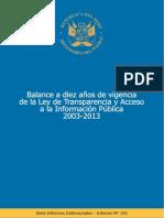 10 años de Ley Transparencia y Acceso Información -Perú