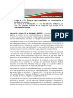 05-11-14 Evade el PAN Gobierno responsabilidades en transparencia y rendición de cuentas.