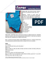 Knitted Baby Onsie by Fiber Fervor