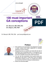 100 Gross Anatomy Conceptions