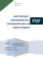 Afectividad y Sexualidad en Las Alumnas Del Colegio Santa Familia.