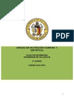 Nutricion Humana y Dietetica - Guia 2 2014-2015