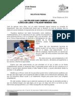 29 de octubre de 2014.- CARITAS FELICES QUE CAMBIAN LA VIDA, CLÍNICA DE LABIO Y PALADAR HENDIDO- SSO .doc