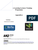 Cooperative Learning Lecturer Training Programme Appendices