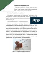 Transductor Fotorresistivos