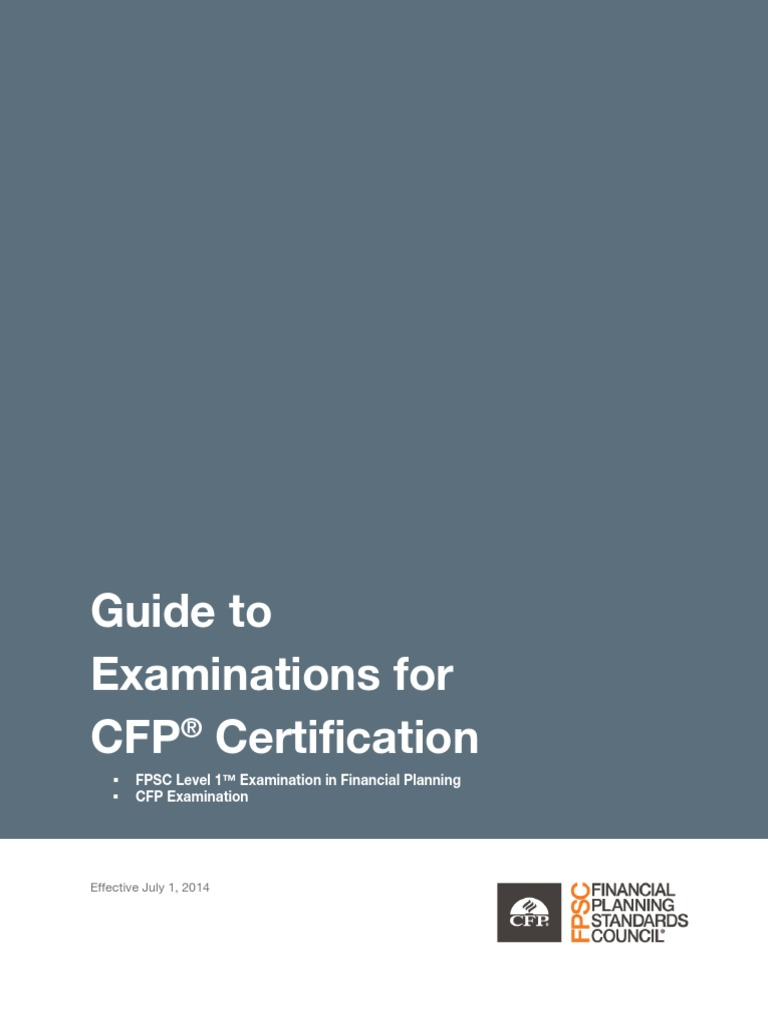 Guide To Examinations For Cfp Certification Identity Document