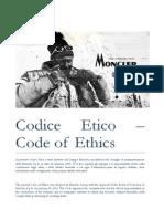 Codice Etico Moncler S.p.A