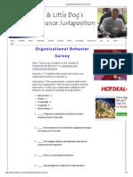 Organizational Behavior Survey