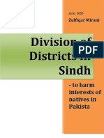 Division of Districts in Sindh