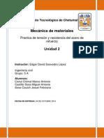 Reporte de Saavedra Unidad Dos
