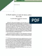 Dialnet La Filosofia Linguistica Y LaTeoria Del Derecho Analitico