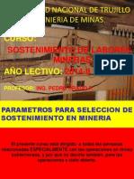 Parámetros Para Selección de Sostenimiento en Minería