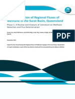 Characterisation of Regional Fluxes of Methane in the Surat Basin