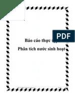 Báo cáo Thực tập Phân tích nước sinh hoạt - Luận văn, đồ án, đề tài tốt nghiệp