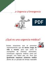 Manejo de Urgencia y Emergencia