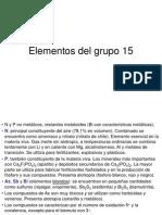 Elementos Del Grupo 15