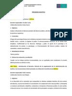 PROGRAMA ANALITICO Especializ. en Psicología Forense