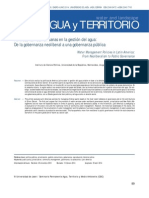 Políticas latinoamericanas en la gestión del agua