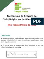 1. Substituição Nucleofílica Alifática