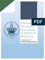 Evaluación de Pi Utilizando El Método de Montecarl1