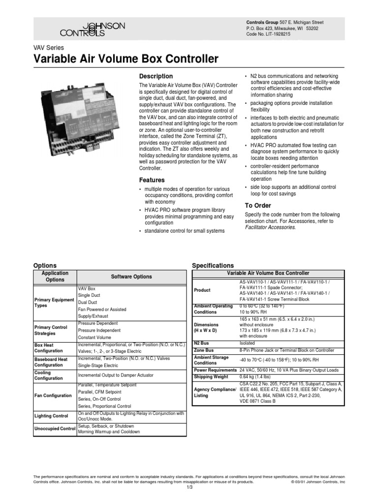 VAV110 | Duct (Flow) | Engineering Thermodynamics