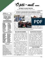 Newsletter Nov 09