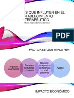Factores Que Influyen en El Establecimiento Terapéutico