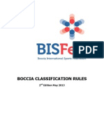 BISFed Boccia Classification Rules 2nd Edition 2013